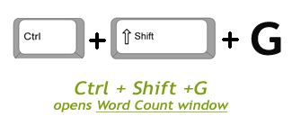 Shortcut to Word Count